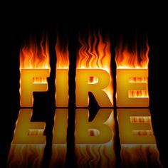 18 Stunning Fire Text Effects Photoshop Tutorials