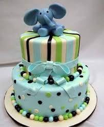 Resultado de imagen para pasteles para baby shower niña verde