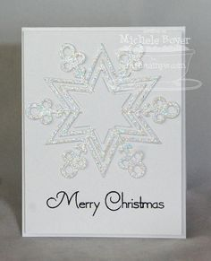 Clearly Sentimental about Christmas; Jumbo Snowflake Die-namics - Michele Boyer