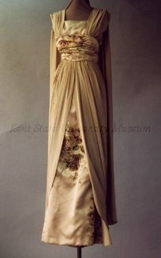 Evening dress by Cecil Beaton, ca 1960 England, Kent State
