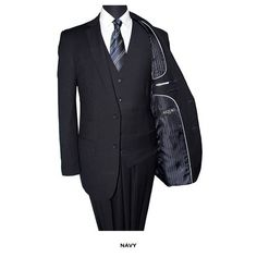 Ballin on a budget at it's finest;-) Great slim fit suit - Navy - under $100 #nomorerack #Debonair