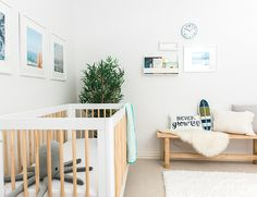 My Boy's Surf's Up Themed Nursery - Inspired By This