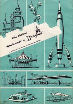 Disneyland Kaiser Aluminum souvenir brochure, 1950s (back).