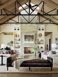 A Family Home for Empty Nesters -Transitional Living Room by Jennifer Robin Interiors