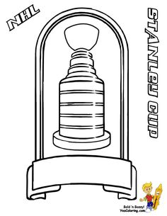 coloring page of nhl hockey stanley cup trophy you can print out this hockey