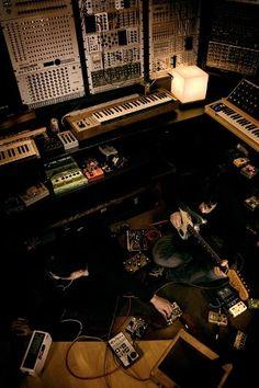 Just one corner of Trent Reznor's recording studio