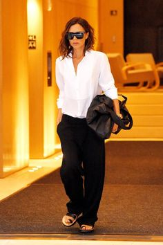 Get Victoria Beckham's slouchy slacks from the high street for less