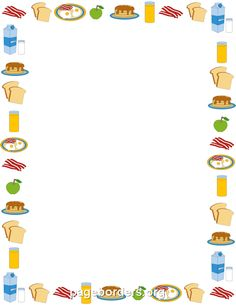 Free Breakfast Border Templates Including Printable Paper And Clip Art Versions File Formats Include GIF JPG PDF PNG