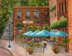 Stillwater Main Street by Ann Tristani Oil ~ 16 x 20 Stillwater Minnesota, Minnesota Home, White Bear Lake, City Art, Adventure Is Out There, Main Street, Places To See, Gazebo, Maine