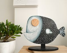 Wooden illustrations for home decor by Iratxe Maruri, via Behance