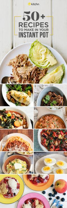 50 EASY instant pot recipes. Great quick weeknight dinner and meal ideas here because they're done in a flash! Pressure cooking and slow cooker / crock pot recipes. Something for everyone with recipes for affordable chicken (breast, thighs, and whole chickens), pork beef, and vegetarian recipes. We even have dessert ideas!