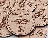 50+ Tying the Knot Save the Date Magnets - Laser cut and Etched on Wood