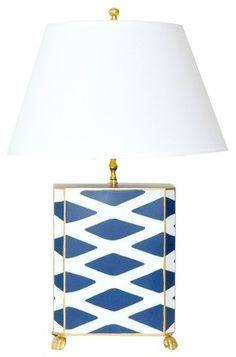 Navy Parthenon Lamp
