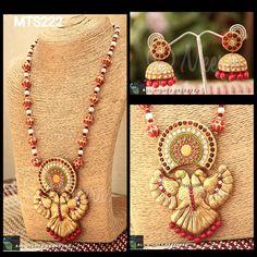 Temple jewellery inspired Gandaberunda set - Terracotta Jewellery Terracota Jewellery, Temple Jewellery, Indian Jewelry, Necklace Set, Fashion Jewelry, Clay, Hand Painted, Jewels, Creative