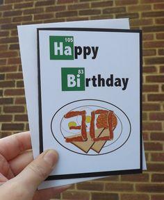 Handmade, Breaking bad, Bacon, Happy Birthday card on Etsy, £2.00