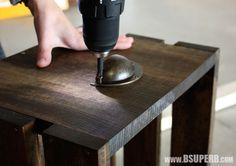 Beautiful DIY Wood Crate - step by step tutorial Small Wooden Crates, Wood Crates, Wood Projects, Woodworking Projects, Minwax, Dark Walnut, Craft Storage, Potpourri, Diy Wood