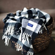 Perfect for a black and white room. Buffalo Check Throw