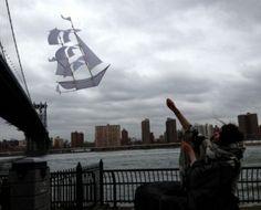 Nautical kite, like a Sailing Ship.