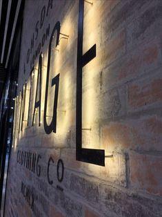 Led Backlit Signage, Custom Led Logo Sign, Design Custom Logo Sign, Brushed Metal Logo, Turn your logo into sign Custom Sign Backlit Signage, Signage Light, Metal Signage, Outdoor Signage, Shop Signage, Wayfinding Signage, Signage Design, Office Signage, Storefront Signage