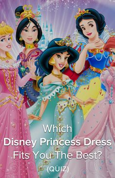Which Disney Princess Dress Fits You The Best? All Disney princesses look amazing in their dresses, but which one suits your personality the most? Take the quiz to find out!