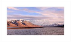 Fine Art Photography Print on a high end photopaper - Isfjord from Longyearbyen, Svalbard