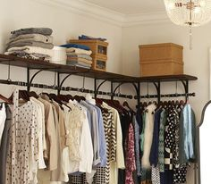 2 tiered clothing rack with shelves - Google Search