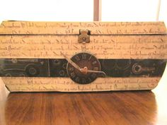 scrapbook paper cigar box | Upcycle a cigar box with scrapbook paper into a wonderful new box. I ...