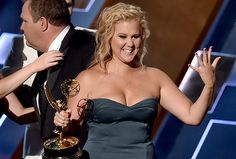 Amy Schumer may have missed out on outstanding actress for a comedy series at the Emmys, but Inside Amy Schumer did win for variety sketch series, meaning she Amy Schumer Bikini, Amy Shumer, Inside Amy Schumer, The Emmys, Dating Girls, Hollywood Gossip, 2015 Hairstyles, Cultura Pop, Celebs