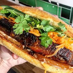 Five-Spiced Glazed Pork Belly w/ pickled Asian pear from @numpangnyc.  100% #mealsandreels recommended.   @mealsandreels  Mealsandreels  LIVE now!! # #DEVOURPOWER by mealsandreels