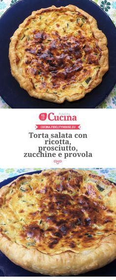 Torta salata con ricotta, prosciutto, zucchine e provola della nostra utente Giada. Unisciti alla nostra Community ed invia le tue ricette!