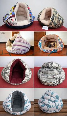 Camitas Iglú para perros y gatos - Tienda Infinita - alles für die katz' - Pet Beds, Dog Bed, Niche Chat, Dog Booties, Animal Projects, Dog Sweaters, Dog Coats, Diy Stuffed Animals, Pet Clothes