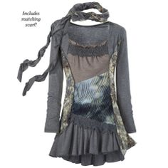 Ragamuffin Tunic Dress - Women's Clothing & Symbolic Jewelry – Sexy, Fantasy, Romantic Fashions