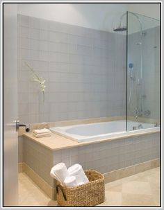Soaking Tub Shower Combo   Google Search