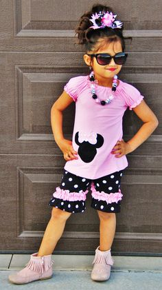 The Minnie Mouse Inspired Polka Dot Outfit