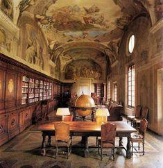 La bibliothèque de l'Institut orthopédique de Rizzoli, Bologne, Italie