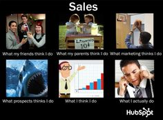 Sales: 'What People Think I Do/What I Actually Do' Meme for HubSpot