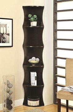 Coaster-Home-Furnishings-801182-Casual-Corner-Shelf-Cappuccino-Bookcase