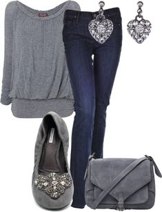 """""""grey casual"""" by kswirsding on Polyvore"""
