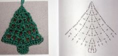 Petit sapin de noël tuto crochet- Le blog de tricotdamandine.over-blog.com Crochet Tree, Crochet Butterfly, Love Crochet, Crochet Crafts, Crochet Flowers, Crochet Yarn, Crochet Christmas Decorations, Crochet Christmas Ornaments, Christmas Crochet Patterns