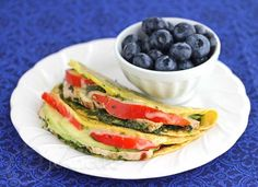 Healthy Lunch Ideas... Chicken Tomato Avocado Quesadilla via Jeanette's Healthy Living also looked at the Breakfast link!! Very good ideas/recipes!