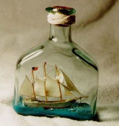 tiny ship in a bottle