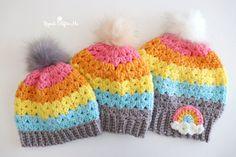 Repeat Crafter Me Bernat Pop Yarn, Bernat Super Value Yarn, Repeat Crafter Me, Granny Square Häkelanleitung, Granny Square Crochet Pattern, Crochet Triangle, Crochet Bunny, Crochet Beanie, Free Crochet