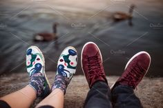 Feets with shoes of the couple by New York Art Store on @creativemarket