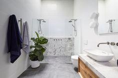 The Block 2018 Room Reveals: Master en suite week in pictures Ensuite, Bathroom Trends, Bathroom Interior, Reece Bathroom, Rooms Reveal, Modern Bathroom Vanity, Bathroom Sets, The Block Bathroom, Laundry In Bathroom