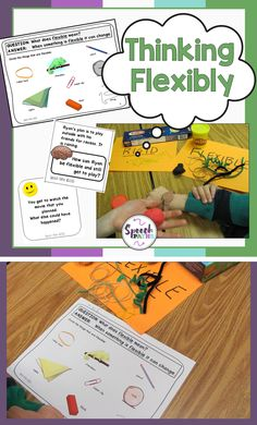 Teaching flexible thinking is fun with these activities and games!  Help your students with autism improve their social skills with these hands on tasks!