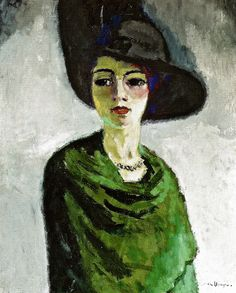 Kees van Dogen - Woman with the Black Hat, 1908 at The Hermitage Museum Exhibit at the National Museum of Prado Madrid Spain