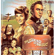 The Sound of Music musical movie with Julie Andrews and Christopher Plummer. Sound Of Music Movie, Christopher Plummer, Classic Movie Posters, Julie Andrews, Golden Age Of Hollywood, British Actors, Actors & Actresses, Movie Tv, Musicals