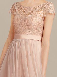 long bridesmaid dress_Blush