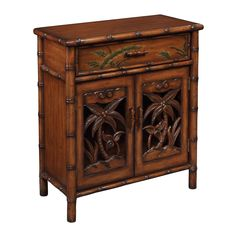 This Polynesian Inspired Cabinet Is Loaded With Details From The Simulated Bamboo Frame To