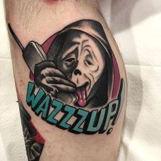 Horror Movie Tattoos, Scary Tattoos, Funny Tattoos, Pin Up Tattoos, Great Tattoos, Body Art Tattoos, Tattoo Drawings, Key Tattoos, Skull Tattoos